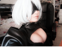 Bunnies, Dank, and youtube.com: NieR: Automata/ Nier:Automata/ Nier:Automata Latinoamerica/ ヨルハNo2号B型「2B」【NieR: Automata】-TH/ 「2B」- Yorha No. 2, Model B : Nier Automata This was a cosplay project I started on the 5th of January. SO DELAYEDDD xD  I hand-sewed the outfit because my sewing machine stopped working last year. But I havn't made any progress since then because I don't feel motivated to work on this costume and I probably won't plan to finish it. Sorry :/ - ANYA Character introduced to me by WHUT :) ________________________ Prints can be purchased at Anya.storenvy.com Follow @play_bunnie Youtube.com/Datasianchickx3