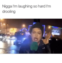 Baby, It's Cold Outside, Funny, and Memes: Nigga I'm laughing so hard lim  drooling IM BACK BABY 😏 now will someone please give this woman some milk