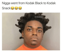 Damn bruh he found all the fat that Gucci left when he came out skinny😂💀😂: Nigga went from Kodak Black to Kodak  Snack  IG: @nochilibro Damn bruh he found all the fat that Gucci left when he came out skinny😂💀😂