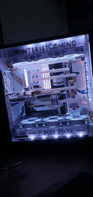 Night build - added RGB strips + ghost the pop vinyl , thoughts !?: Night build - added RGB strips + ghost the pop vinyl , thoughts !?