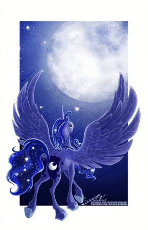 Memes, Deviantart, and Princess: Night everypony!!  Deviantart: https://www.deviantart.com/jessicavernell/art/Princess-Luna-634215274
