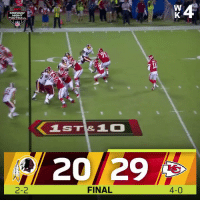 Football, Memes, and Chiefs: NIGHT  FOOTBALL  IST&1  20/29  2-2  FINAL  4-0 FINAL: @Chiefs remain undefeated! #ChiefsKingdom   #WASvsKC https://t.co/w5R7j9hPOd