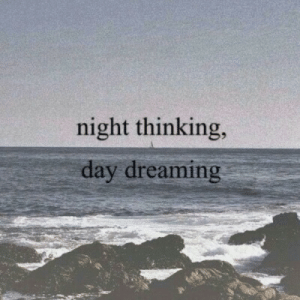 dreaming: night thinking,  day dreaming