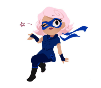 "Target, Tumblr, and Blog: nightcigale: I did a tiny godtier Roxy to warm up today! And here's a ""homestuck"" version but I have to admit I prefer with colors!I hope you all have a nice day! *wonk*"