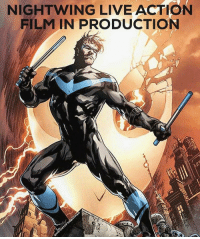 Batman, Dicks, and Memes: NIGHTWING LIVE ACTION  FILM IN PRODUCTION Evening Gothamites! Earlier today confirmed by @LEGOBatmanMovie director Chris McKay and The Hollywood Reporter, McKay is working with Warner Bros. and writer Bill Dubuque (The Accountant) on a live action DCEU film centered around the Batman mythos character Nightwing aka Dick Grayson! Debuting in Detective Comics (Vol 1) 38 in April 1940, Dick Grayson became Batman's first sidekick, Robin the Boy Wonder. Once Marv Wolfman and George Perez reinvented the Teen Titans in the 1980s, Dick Grayson adopted a more mature persona of Nightwing, debuting in Tales of the Teen Titans 44 in 1984. Being a fan favorite in comics (Ivan Reis' 2016 cover to Nightwing (Vol 4) 1 presented), animated television and film for decades, this will be Nightwing's debut in live action, the DC Extended Universe and on the big screen! From speaking with McKay in my latest podcast interview (linked in the bio!), him directing this Batman spin off film will illustrate a unique tone within this continuity that can be beneficial and a good balance to the universe we know thus far. What are you thoughts on this addition to the DC Comics film universe and who would you want to play this beloved character? Discuss in the comments below! Thanks for following and we will have more History of the Batman soon! [Article Source: http:-bit.ly-2lACFWe] ✌🏼💙🦇📽