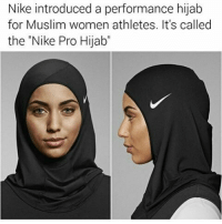 """Memes, 🤖, and Hijab: Nike introduced a performance hijab  for Muslim women athletes. It's called  the """"Nike Pro Hijab @funnycahitstrue whats your opinion on this? cashin or embracingculture discussbelow playniceppl ✌"""