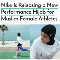 Ftw, Memes, and The All: Nike Is Releasing a New  Performance Hijab for  Muslim Female Athletes @Regrann from @drchavous - @Nike is making powerful diverse moves for women - plus-size athletic wear and the ProHijab! 🙌🏾💪🏾✅. As one of the biggest global sportswear brands, Nike has been working towards being more inclusive of all athletes and sports lovers around the world. Earlier this month, Swoosh officially launched its plus-size sportswear range for women. Moving forward, the company is about to release the all-new Pro Hijab designed for Muslim female athletes. The news was revealed in a statement from Nike: The Nike Pro Hijab may have been more than a year in the making, but its impetus can be traced much further back, to an ongoing cultural shift that has seen more women than ever embracing sport … This movement first permeated international consciousness in 2012, when a hijabi runner, Sarah Attar, took the global stage in London. The Nike Pro Hijab is set to release in Spring 2018! muslimlivesmatter hijab islam curvyfit curves justdoit nike ftw womenshistorymonth womensfashion athleisure athletes sports - regrann Mediaoutrage