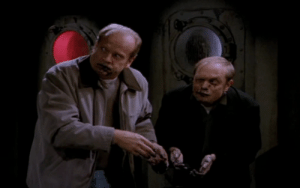 Niles and Frasier Crane tweaking out on caviar: Niles and Frasier Crane tweaking out on caviar