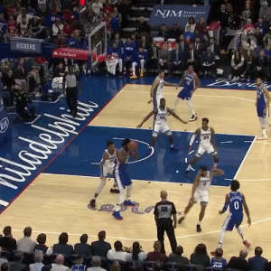 Joel Embiid with the poster!   4 PTS & 7 REB in 6 MINS.  He was 0-11 in his last game.    https://t.co/a2n1d0KCnU: NIM  Insurance  Gronp  SIXERS  State Farm  PRILA  IA  adelpi  GB  0  SRAU Joel Embiid with the poster!   4 PTS & 7 REB in 6 MINS.  He was 0-11 in his last game.    https://t.co/a2n1d0KCnU