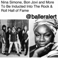 Billboard, Cars, and Memes: Nina Simone, Bon Jovi and More  To Be Inducted Into The Rock 8  Roll Hall of Fame  @balleralert Nina Simone, Bon Jovi and More To Be Inducted Into The Rock & Roll Hall of Fame – blogged by @MsJennyb ⠀⠀⠀⠀⠀⠀⠀ ⠀⠀⠀⠀⠀⠀⠀ In April, the 33rd annual Rock & Roll Hall of Fame induction ceremony will kick off at the Public Auditorium in Cleveland, Ohio. Although the inductors will be revealed at a later date, the 2018 list of inductees has been revealed. ⠀⠀⠀⠀⠀⠀⠀ ⠀⠀⠀⠀⠀⠀⠀ This year's ceremony is set to honor The Cars, The Moody Blues, Dire Straits, BonJovi, Sister Rosetta Tharpe and singer-activist, NinaSimone. All of which contributed to the industry in their own way, from worldwide records to their impact on society. ⠀⠀⠀⠀⠀⠀⠀ ⠀⠀⠀⠀⠀⠀⠀ The inductees were chosen from a list of nominees which included LLCoolJ, Rufus featuring ChakaKhan, Radiohead, Judas Priest and more, who released their first recording at least 25 years ago. Ballots were voted based on musical influence, length, and depth of career and body of work, among other things, according to Billboard.
