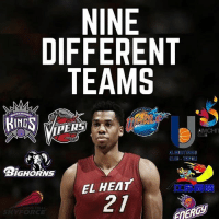Much respect to this man for sticking with his passion through thick & thin... in turn he was rewarded for that... RESPECT. @hassanwhiteside HOOPSNATION (@miamiheatislife): NINE  DIFFERENT  TEAMS  ING  IPER  BIGHORNS  EL HEAT  ORCE  IERGY Much respect to this man for sticking with his passion through thick & thin... in turn he was rewarded for that... RESPECT. @hassanwhiteside HOOPSNATION (@miamiheatislife)