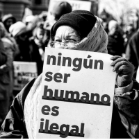 """We interrupt your Sunday programming to bring you this message from the realest. 💯💯💯 *Translation: """"No human being is illegal"""" 🙌🏾 Source: IG @conradomuluc immigration HereToStay: ningun  Ser  eS We interrupt your Sunday programming to bring you this message from the realest. 💯💯💯 *Translation: """"No human being is illegal"""" 🙌🏾 Source: IG @conradomuluc immigration HereToStay"""