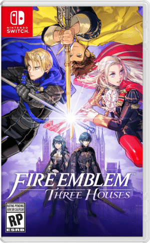 Emblem, Shitposting, and Art: NINTEND O  SWITCH  TM  0  IRE EMBLEM  TİTRE-HOUSES  TM  RATING PENDING  AUN SIN CALIFICAR  ESRB Hey guys here's my totally legit fan created box art for Three Houses. What do you guys think?