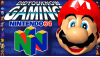 Check out the latest Did You Know Gaming? video on the Nintendo 64! https://www.youtube.com/watch?v=CEfY2Rq28DM&list=PL26D7E5A7D29CCAB3: NINTENDO  64 Check out the latest Did You Know Gaming? video on the Nintendo 64! https://www.youtube.com/watch?v=CEfY2Rq28DM&list=PL26D7E5A7D29CCAB3