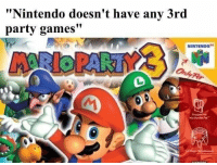 "Nintendo, Party, and Games: Nintendo doesn't have any 3rd  party games""  NINTENDO4 Checkmate, Nintendo criticizers https://t.co/MBpUVNgo3J"