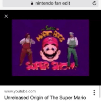 nintendo fan edit  www.youtube.com  Unreleased Origin of The Super Mario dankmemes autism cringe meme memes autistic nicememe lmao autismspeaks kek lmfao immortalmemes filthyfrank 4chan ayylmao weeaboo anime vaporwave bushdid911 memecucks jetfuelcantmeltsteelbeams johncena papafranku edgy obamadidparis tumblr furry triggered genderfluid cancer ( ͡° ͜ʖ ͡°)