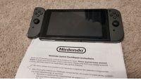 U.S. Politics in a Nutshell: Nintendo  Nintendo Switch Post-Repair Instructions  Thank you for sending your console to Nintendo for repair. Please read the boxes checkec  below for postrepair information and/or instructions. Please note that if you created parental  controls, you may need to re-create them (see Section A below).  We have verified your problem and repaired or replaced the defective component(s)  After thoroughly testing your Nintendo component(s), we could not duplicate the problem  you were experiencing, so we have:  Repaired or replaced the component(s) we suspect mo  else provided a replacement fn U.S. Politics in a Nutshell