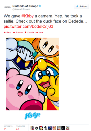 "primadonna-gavin:  spoonspoonfork:  alskylark:  lizzymodblog:  dizorthegnome:  superpsyguy:   In this photo you can clearly see both of Kirby's hands! In other words…  There is NO WAY Kirby could have taken a selfie!!    Hold it! Wikipedia and Urban Dictionary both define a ""selfie"" as a photo of someone, taken by themselves. Usually from arm length, or through a mirror. So even if Kirby did ask someone else to take the picture for him…  It still wouldn't count as a selfie!    You are ignoring the fact that most cameras have a fancy option to use a timer that takes the picture when the taker activates it.  Kirby could've perfectly used this option to take the picture, which even in your urban dictionary definition would still count as a selfie. Since,   HE STILL MADE IT HIMSELF!!  why is it that whenever the phoenix wright fandom hijacks a post its always over something trivial and never anything serious like a murder case  oH IM SORRY LET ME GO MURDER SOMEONE SO WE CAN HAVE A MURDER CASE : Nintendo of Europe  Follow  @NintendoEurope  We gave #Kirby a camera. Yep, he took a  selfie. Check out the duck face on Dedede  pic.twitter.com/bodeK2ij63  Reply Retweet FavoriteMore  RETWEETS  FAVORITES  71  47 primadonna-gavin:  spoonspoonfork:  alskylark:  lizzymodblog:  dizorthegnome:  superpsyguy:   In this photo you can clearly see both of Kirby's hands! In other words…  There is NO WAY Kirby could have taken a selfie!!    Hold it! Wikipedia and Urban Dictionary both define a ""selfie"" as a photo of someone, taken by themselves. Usually from arm length, or through a mirror. So even if Kirby did ask someone else to take the picture for him…  It still wouldn't count as a selfie!    You are ignoring the fact that most cameras have a fancy option to use a timer that takes the picture when the taker activates it.  Kirby could've perfectly used this option to take the picture, which even in your urban dictionary definition would still count as a selfie. Since,   HE STILL MADE IT HIMSELF!!  why is it that whenever the phoenix wright fandom hijacks a post its always over something trivial and never anything serious like a murder case  oH IM SORRY LET ME GO MURDER SOMEONE SO WE CAN HAVE A MURDER CASE"