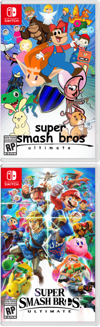 Nintendo, Smashing, and Super Smash Bros: NINTENDO  SWITCH  o super  smash bros  RATING PENDING  AUN SIN CALIFICAR  u Iti m at e  ESRB   NINTENDO  SWITCH  SUPER  SMASH BRIS  TM  RATING PENDING  AUN SIN CALIFICAR  U L TI M AT E  ESRB clipartcoverart:Super Smash Bros. UltimateClipArt Cover Art