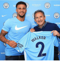 Manchester City has signed Kyle Walker for £50m. 😃 Was it worth it? 🤔: NISSA  ETIHAD  AIRWAYS  AN  CHES  WAYS  NISS  C I T  LKER  TL  NEXEN  TIRE  NIS Manchester City has signed Kyle Walker for £50m. 😃 Was it worth it? 🤔