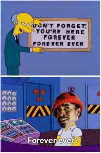 Memes, Forever, and Alright: NIT FORGET.  YOU'RE HERE  FOREVER  FOREVER EVER  Forever ever? Alright, alright, alright, alright, alright, alright!  Credit: Natalie Rosengard