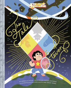 """Books, Memes, and Ted: NIVERSE  EBECCA SUGAR, CREATOR OF STEVEN UNIVER  BY R  ILLUSTRA  TED BY ELLE MICHALKA AND ANGIE w The Tale of Steven is here! 💎✨📕 The official book adaptation of """"Change Your Mind""""   Preorder it now from ABRAMS Books: cartn.co/TaleOfSteven  Once upon a time, a silly, impossible little Gem named Pink Diamond ran away from her Homeworld to the planet Earth. She transformed into Rose Quartz and gave up her existence to create a half-human child, Steven Universe. This is her story."""
