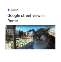 i want a cat: nixcraft  Google street view in  Rome i want a cat