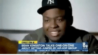 """Memes, Worldstar, and Wshh: NN  ONLY ON B  SEAN KINGSTON TALKS ONE-ONONE  ABOUT GETTING JUMPED BY HIP-HOP GROUP  84 SeanKingston says he got jumped but didn't get """"jumped"""" in Migos altercation 🤔 (via @8newsnow) @seankingston @worldstar WSHH"""