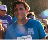 Memes, Michael Scott, and Heat: NNCE  Michael Scott's  Dunder Miillin  Scranton Meredith  Palmer Monl  alelarity Rahles  wareness Pro-Ani  Fun Run Race  For The Cure  AM  Pahies Awareness Fun Run Me walking around in this freaking heat.