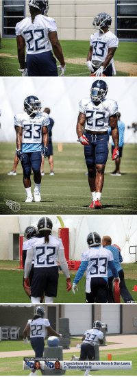 Derrick Henry, Football, and Nfl: NNES   TTaMS   JIM WWATT   Visit NFL.com/ScoutsNotebook  Expectations for Derrick Henry & Dion Lewis  in Titans backfield Looking at pics of Titans RBs Derrick Henry & Dion Lewis standing next to each may be my new favorite thing https://t.co/ZgABv21rql