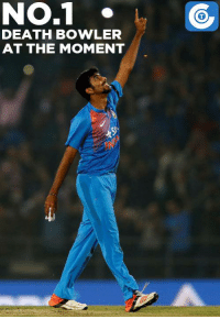 Jasprit Bumrah has conceded just 5 runs in the last 12 balls.: NO.1  DEATH BOWLER  AT THE MOMENT Jasprit Bumrah has conceded just 5 runs in the last 12 balls.