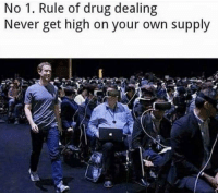 Never, Drug, and Own: No 1. Rule of drug dealing  Never get high on your own supply