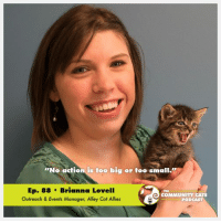 "Cats, Community, and Facebook: No action is too big or too small.""  Ep. 88 Brianna Lovell  COMMUNITY CATS  Outreach & Events Manager, Alley Cat Allies  PODCAST Our Bri Lovell was interviewed by Stacy LeBaron of the Community Cats Podcast and it was a lot of fun! Please check it out at www.CommunityCatsPodcast.com and enjoy! If you like what you hear, don't forget to subscribe to the podcast via iTunes, like the podcast on Facebook, and follow it on twitter! #FeralCatDay"