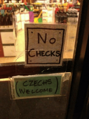 Hotfix: No  CHECKS  CZECHS  WELCOME Hotfix