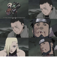 """Crying, Memes, and Forever: no, Chouji, Shikamaru  have one last thing to tell you  Jus  Sten  Yes!  These are Asuma sensei's last word  no  You're strong willed, dependable and responsible... """"I could say I'm not sad, but I'd be lying. The problem is the world won't let me stay a kid forever, so I can't lie around crying about it either."""" -Shikamaru Nara"""