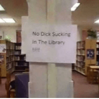 No Dick Suciong  In The Library