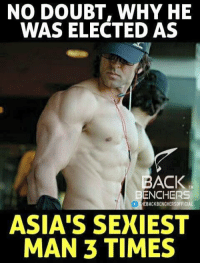 Hrithik Roshan 😍 ...: NO DOUBT, WHY HE  WAS ELECTED AS  BACK  ENCHERS  f THEBACKBENCHERSOFFICIAL  ASIA'S SEXIEST  MAN 3 TIMES Hrithik Roshan 😍 ...