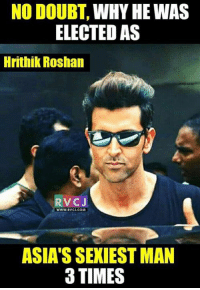 HRITHIK Roshan.: NO DOUBT,  WHY HE WAS  ELECTED AS  Hrithik Roshan  V CJ  WWW.RVCJ.COM  ASIASSEXIESTMAN  3 TIMES HRITHIK Roshan.