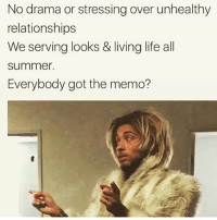 my friend posted a video of us talking and I get so weirded out listening to my own voice like that's not what I think I sound like I sounded sort of congested??? like do I constantly sound like I'm congested??? that's probably annoying I should like stop talking: No drama or stressing over unhealthy  relationships  We serving looks & living life all  summer.  Everybody got the memo? my friend posted a video of us talking and I get so weirded out listening to my own voice like that's not what I think I sound like I sounded sort of congested??? like do I constantly sound like I'm congested??? that's probably annoying I should like stop talking