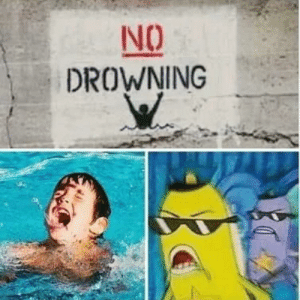 meirl: NO  DROWNING meirl