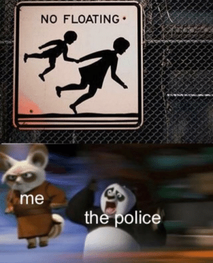 Police, The Police, and Floating: NO FLOATING  me  the police No floating >:(