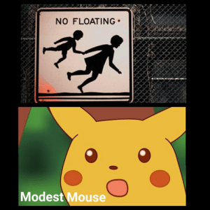 Reddit, Mouse, and Okay: NO FLOATING  Modest Mouse It's not okay
