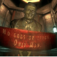 Who else remembers Bioshock? 🙌: NO GODS 0R  NLY  S  N  Re  SL  DN  0 Who else remembers Bioshock? 🙌