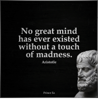 Memes, Prince, and Aristotle: No great mind  has ever existed  without a touch  of madness  Aristotle  Prince Ea