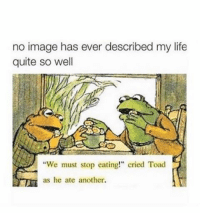 "Memes, 🤖, and Toad: no image has ever described my life  quite so well  ""We must stop eating!"" cried Toad  as he ate another. Relatable 😂"