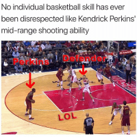 doing perkins wrong 😂 nba nbamemea (via world_wide_wob-Twitter): No individual basketball Skill has ever  been disrespected like Kendrick Perkins'  mid-range shooting ability  PerkinsDefender  LOL  6B doing perkins wrong 😂 nba nbamemea (via world_wide_wob-Twitter)