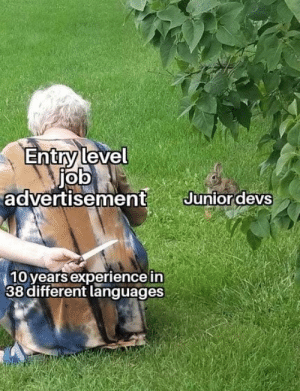 no junior devs were harmed during the making of this meme: no junior devs were harmed during the making of this meme