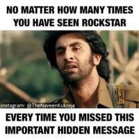 Repost - @thenaveenkukreja thedesistuff aprilfools aprilfoolsday: NO MATTER HOW MANY TIMES  YOU H VE SEEN ROCKSTAR  instagram: @TheNaveenKukreja  EVERY TIME YOU MISSED THIS  IMPORTANT HIDDEN MESSAGE Repost - @thenaveenkukreja thedesistuff aprilfools aprilfoolsday