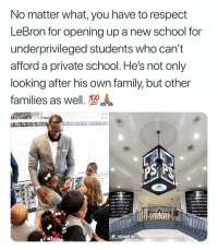 Anaconda, Big Will, and Family: No matter what, you have to respect  LeBron for opening up a new school for  underprivileged students who can't  afford a private school. He's not only  looking after his own family, but other  families as well., 100  AMILY JAIVIto  SEI PRO  ISE PR  WILL  HARD  WILL  WILL NEVER GIVE UP  WILL NEVER GIV  WILL DO MY BEST  WILL DREAM BIG  wilL STAND TALL  WILL SUCCEED  WILL DO MY BE  WILL DREAM B  'WILL STAND TA  WİLL SUCCEE  LL DE STRO  WILL BE STRO  Akron Public  hools  E NBAMEMES Respect for that 💯🔥 - Follow @_nbamemes._