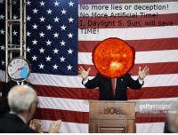"""Reddit, Time, and Artificial: No more lies or deception!  o More Artificial Tim  I, Daylight S. Sun, will  9)  gettyimages  end lmages - Hill Street <p>[<a href=""""https://www.reddit.com/r/surrealmemes/comments/82p61e/vote_daylight_4_sun_he_will_save_our_time/"""">Src</a>]</p>"""
